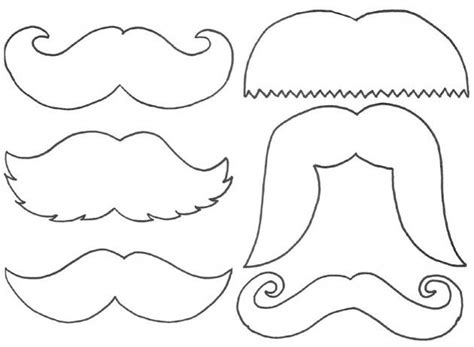 printable milk mustaches get crafty pinterest