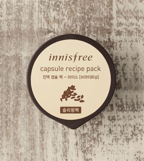 Innisfree Capsule Recipe Packs mặt nạ ngủ l 224 m s 225 ng da innisfree capsule recipe pack rice