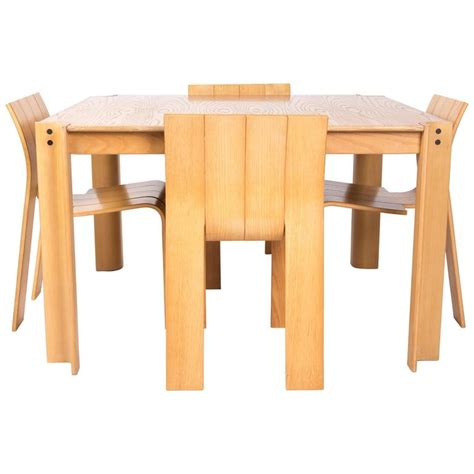Stripping Dining Room Table Gijs Bakker Chairs With The Table For Sale At 1stdibs