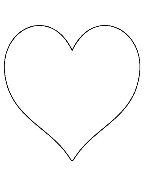 heart pattern free printable 8 inch heart pattern use the printable outline for crafts