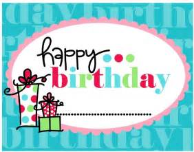 for birthday happy birthday card printable mybissim
