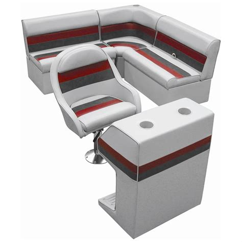 boat sets wise 174 rear group deluxe pontoon boat seat d style
