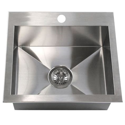 top mount stainless steel kitchen sinks 19 inch top mount drop in stainless steel single bowl