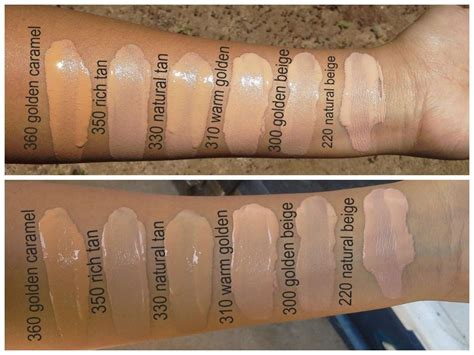 revlon colorstay colors revlon colorstay foundations swatches in golden caramel