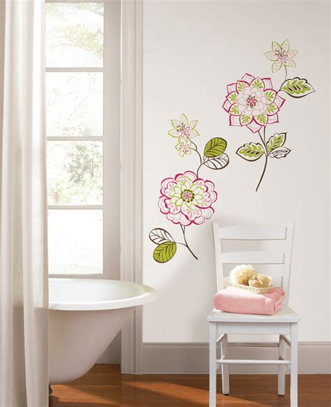 Wall Decor Houzz by Des Fleurs Flower Wall Kit By Wallpops
