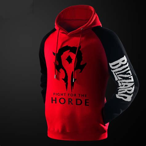 Hoodie Warcraft For The Alliance Fightmerch world of warcraft horde hoodie wow black pullover sweatshirt for wishining