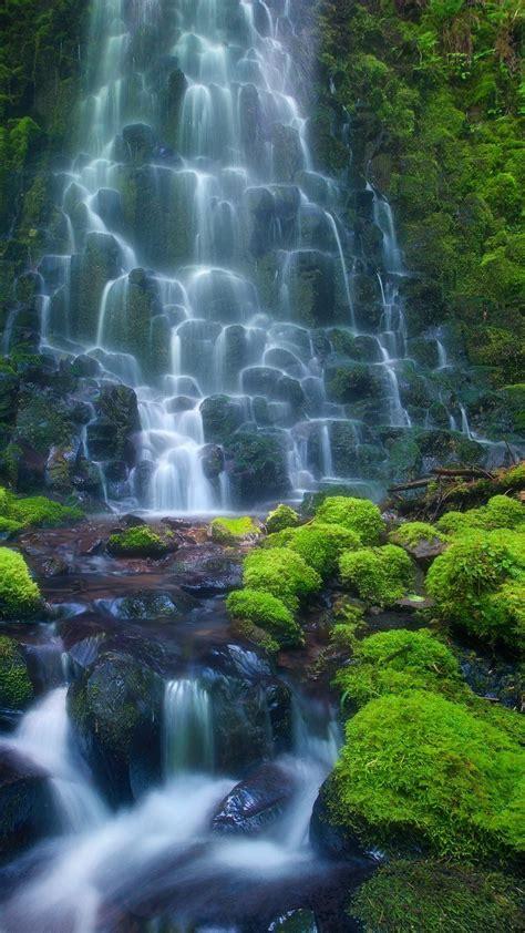 enchanting waterfall hd iphone   hd wallpaper hd
