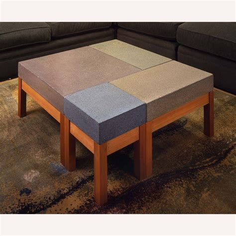 Hand Crafted Concrete Modular Coffee Table By Bohemian Custom Made Coffee Table