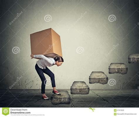 How To Up Someone Who Is A Heavy Sleeper by Difficult Task Concept Carrying Heavy Box Upstairs