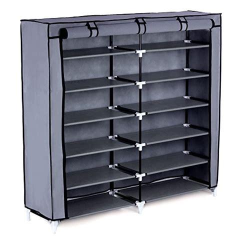 shoe storage with cover songmics 7 tier shoe rack 36 pair portable shoe storage