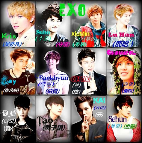 exo wallpaper with name exo members names wolf www pixshark com images
