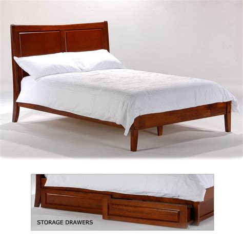 Bed With Drawers by Wood Bed Frame Storage Drawers