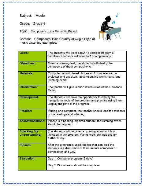 lesson plan template for special needs students reflection prediction or why we should write our