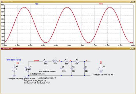 1khz precision sine generator using pic 16f628