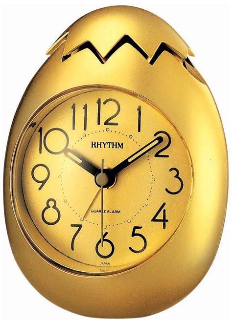 Alarm Clock Bedroom Golden Egg 4re886nr18 Rhythm Springfield Clock Shop