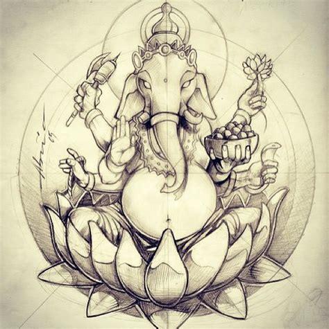 ganesha illustration tattoo 28 ganesha on lotus tattoo