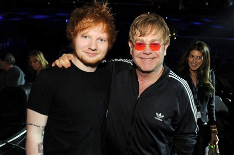 elton john ed sheeran elton john s advice to ed sheeran on watching his weight