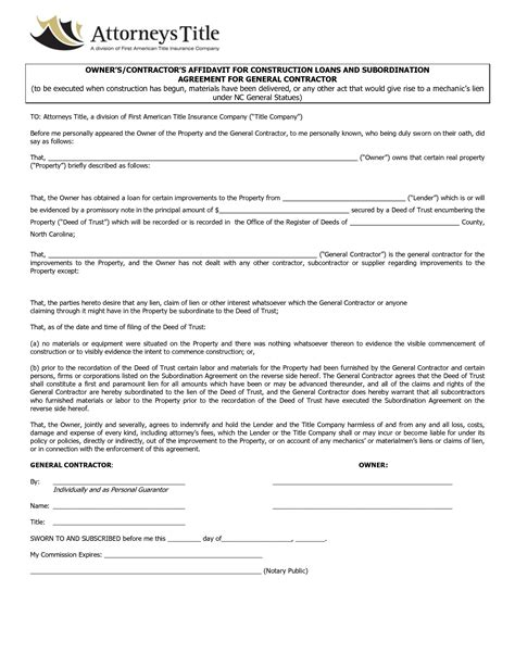 Agreement Template Category Page 3 Efoza Com General Construction Contract Template