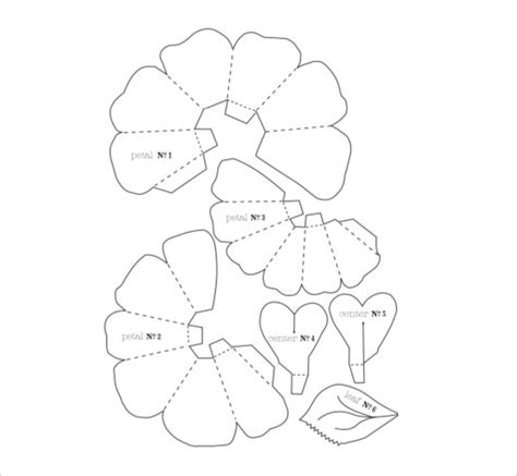 floral paper cut out card template 20 flower petal templates pdf vector eps free