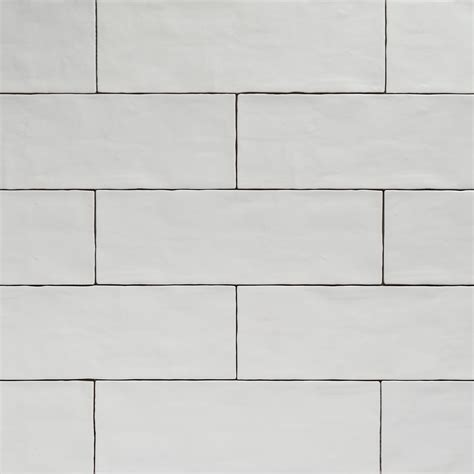 Handcrafted Tiles - handmade white matt natura wall subway tiles 396 215 130 in