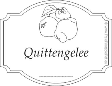 Etiketten Drucken Pdf by Quittengelee Etiketten Pdf Drucken Kostenlos