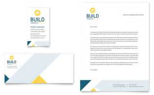 construction business card templates free contractor business card letterhead template design