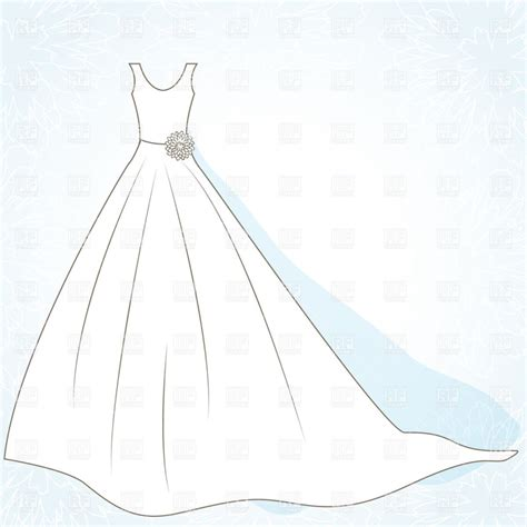 Wedding Dress Outline best wedding dress outline 10120 clipartion
