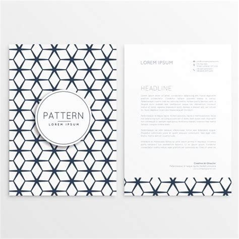 Business Letterhead Vector Free Geometric Business Letterhead Vector Free