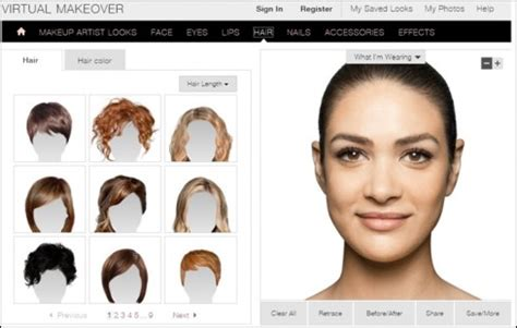 hair makeover for 50 free try different hairstyles on your face new hairstyle designs
