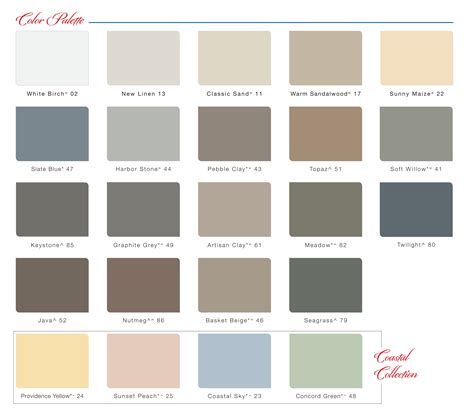 colors of siding vinyl siding color chart vinyl siding colors and