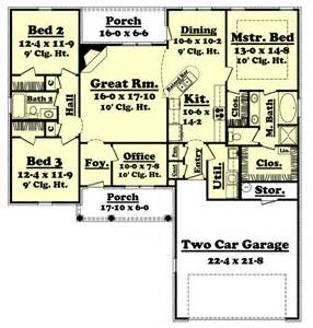 1700 sq ft house plans 1700 square feet 3 bedrooms 2 batrooms 2 parking space