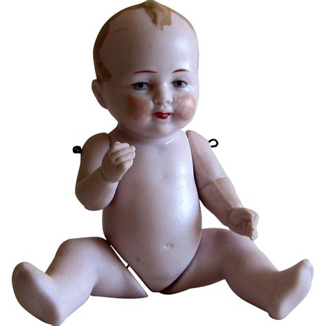 jointed doll knee miniature german bisque jointed bent knee baby doll 5