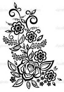 Designs In Black And White Black And White Flower Design Cliparts Co