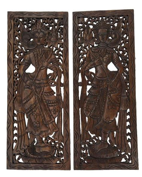best asian wood carved wall panels unique handmade wall decor asiana home decor