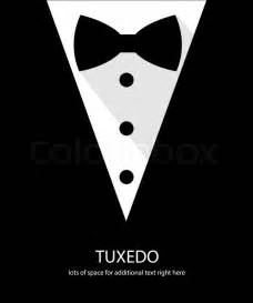 Stock vector of black and white bow tie tuxedo illustration flat long