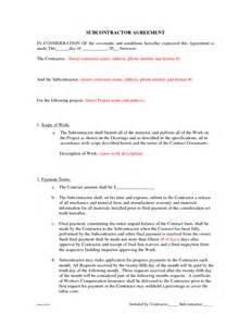 cost plus building contract template subcontractor agreement forms by beunaventuralongjas