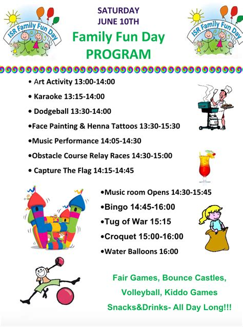 doodle poll international invitation for a family day at isr saturday 10th of