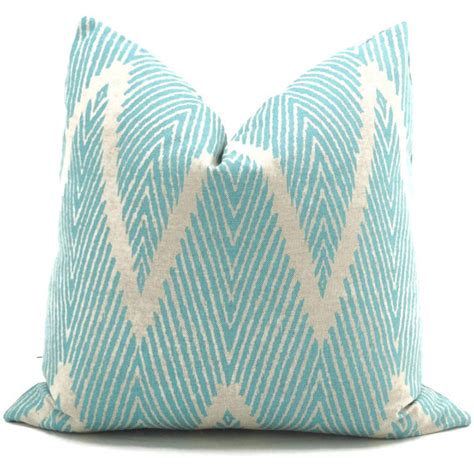 Aqua Pillow Cover by Aqua And Gray Ikat Chevron Pillow Cover Decor By Color