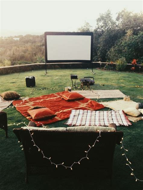 backyard cinema 7 easy tips for backyard movie theater home design and
