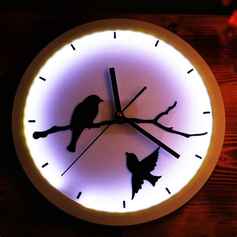 in light clock large light up wall clock