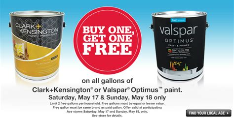 free is my bogo free clark kensington or valspar 174 optimus paint at ace hardware nationwide