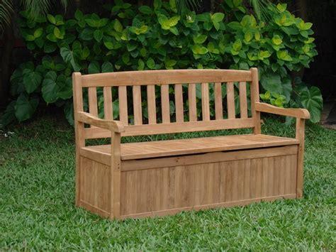 garden bench storage 5 feet outdoor patio teak garden bench w storage box
