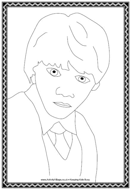 harry potter coloring pages ron ron weasley colouring page