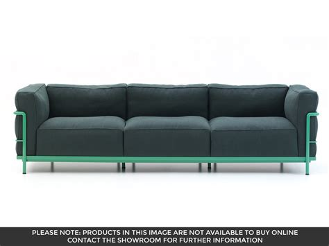lc3 sofa cassina lc3 3 seater sofa by le corbusier pierre