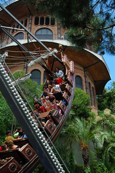 swings at tibidabo mountain barcelona photoblog amusement parks swinging ship