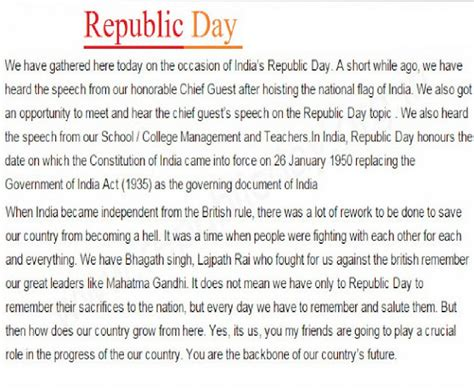 Day Essay by Republic Day 2018 Essay For Students Childs Republic Day 2018 Speech Essay Slogans