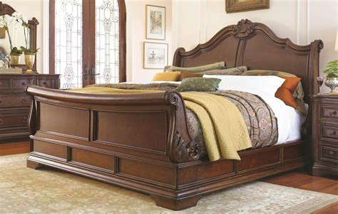 Sleigh Bed With Drawers Underneath by Wooden Sleigh Bed With Storage Drawers Bed Furniture
