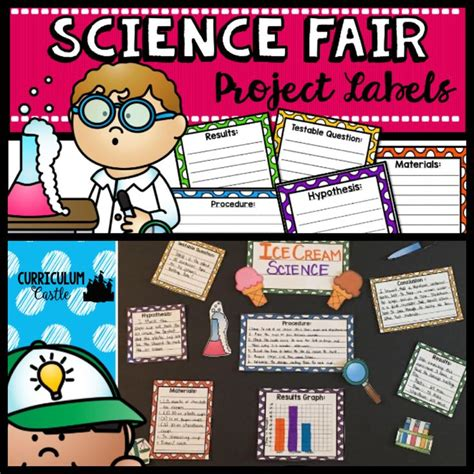 free science fair project labels scientists
