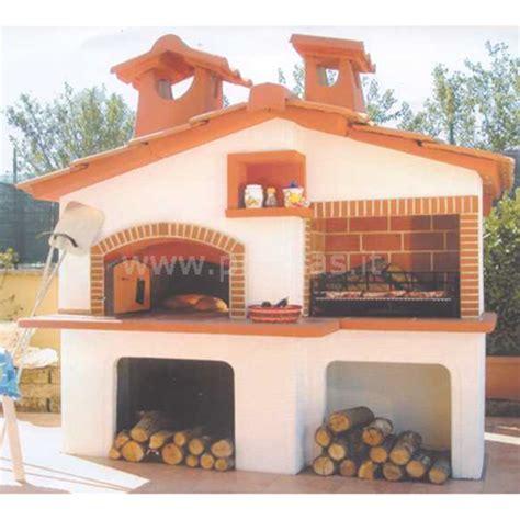 barbecue e forno a legna da giardino forno e barbecue a legna canada cm240x180x260h con