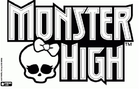 monster high logo coloring pages monster high logo party stuff pinterest monster high